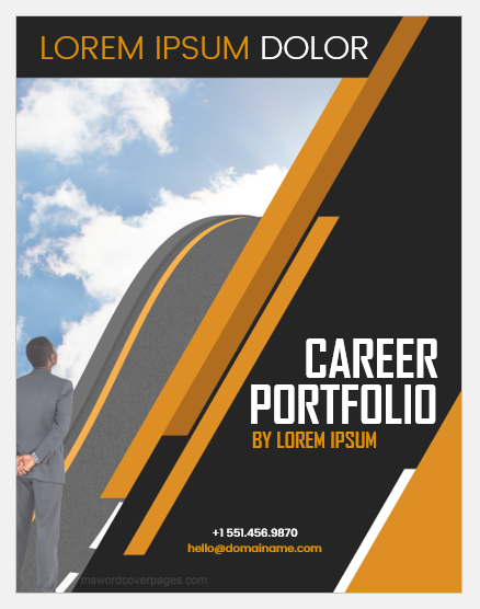 Career portfolio cover page template