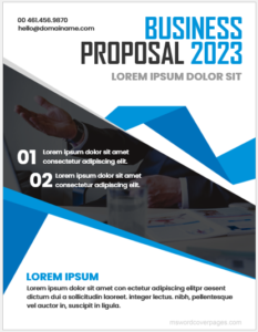 Proposal cover page