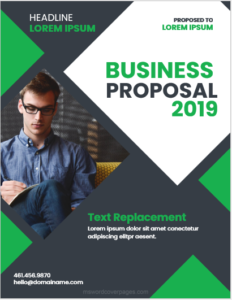 Sample proposal cover page