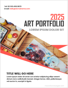 Art Portfolio Cover Page Template