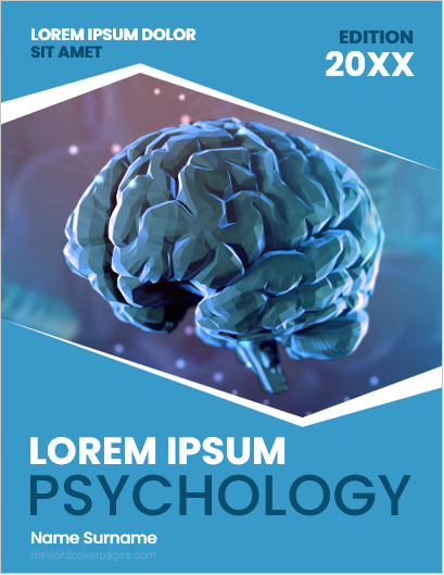 Psychology project cover page