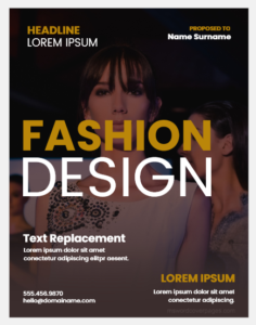 Fashion design cover page template