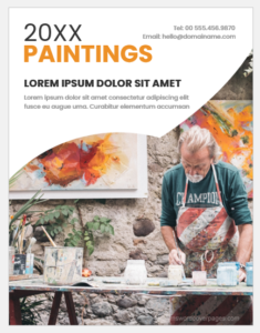 Painting cover page template