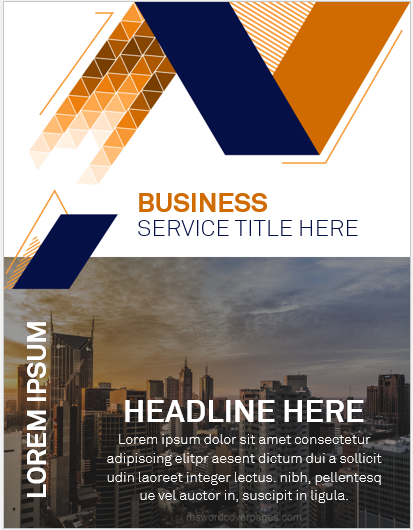 Business report cover page