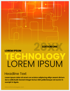 Technology Cover Page Template