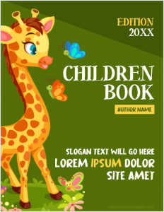 Children book cover page
