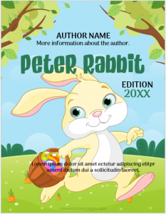 Peter Rabbit Cover Page Template
