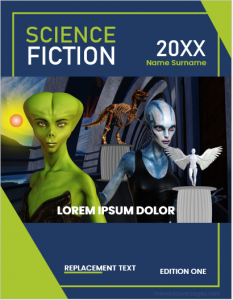 Science Fiction Book Cover Page