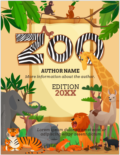 Zoo storybook cover page