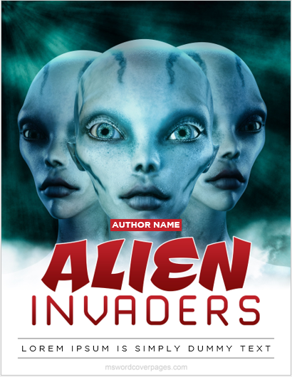 Alien theme book cover page