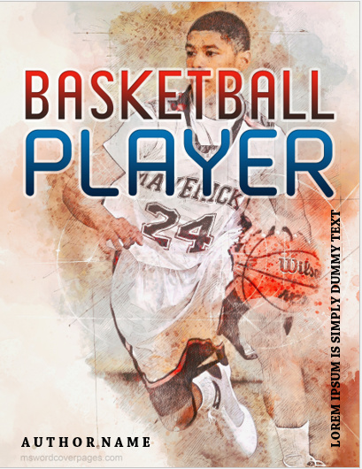Basketball player cover page