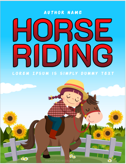 Horse riding cover page