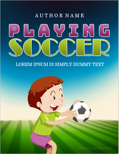 Soccer playing cover page