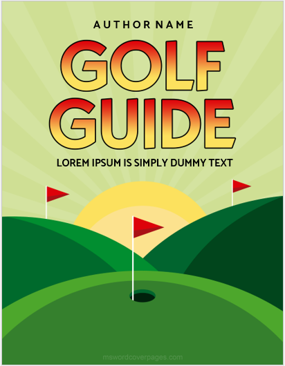 Golf guide cover pages