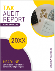 Tax Audit Report Cover Page